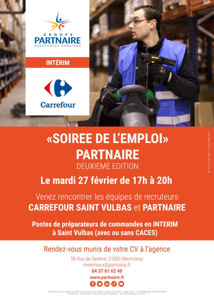 Soirée de l'emploi Carrefour Partnaire