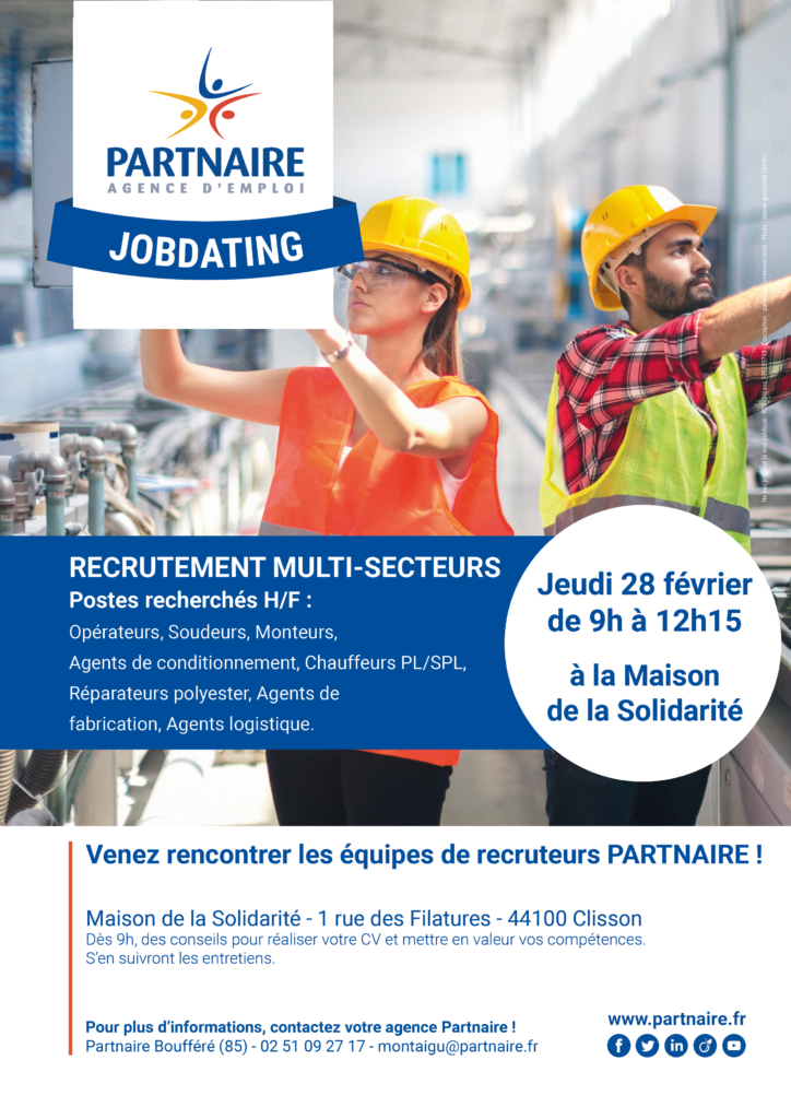 Job Dating Clisson Partnaire Emploi