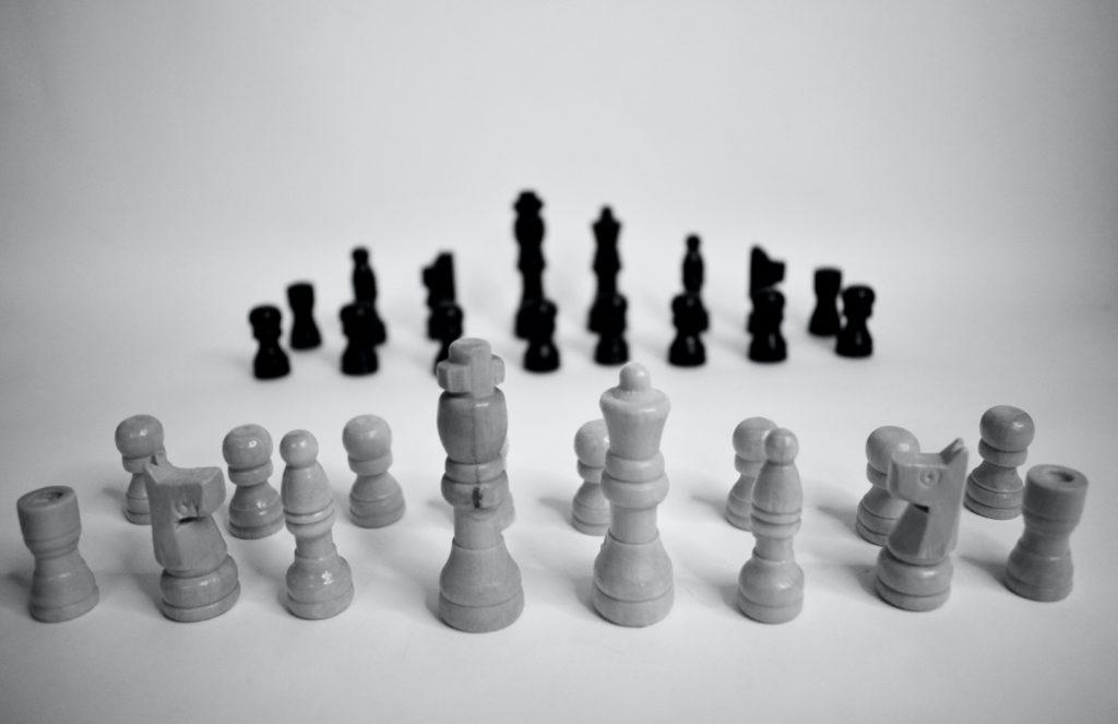 jeu d'échec photo noir et blanc
